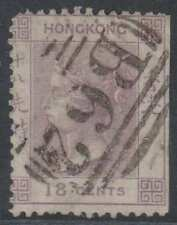 "BC HONG KONG 1866 Sc 17 KEY VALUE USED BY NEAT ""B62"" CANCEL SCV$350.00"