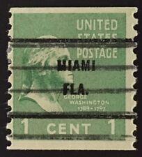 Miami, Florida Precancel - 1 cent Prexie coil (U.S. #839) FL