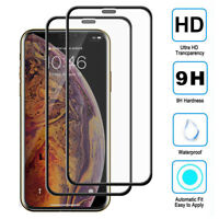 3/2Pack 9D Full Cover Tempered Glass Film Protector for iPhone 11 Pro Max Screen