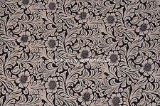 2.5 Yard Indian Block Printed Fabric 100% Cotton Natural Dye Running Fabric Boho