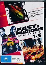 Fast and Furious Collection 1-3 DVD NEW 3-disc Region 4 Paul Walker Vin Diesel