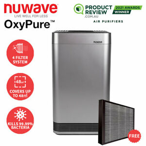 Nuwave OxyPure Smart Air Purifier with HEPA/Activated Carbon Filter Clean Air