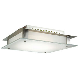 Access Lighting 50031 Steel Vision 1-Light Flush Mount Ceiling Fixture