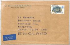 BT49 1970 Bermuda Belmont Hotel *GOLF CLUB* Commercial Air Mail Cover {samwells}