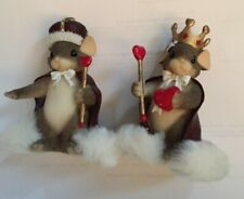 Fitz and Floyd Charming Tails King and Queen of My Heart - Set of 2