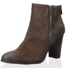 Nicole Dark Brown Suede Ankle Boot Bootie Size 9 New In Box NIB