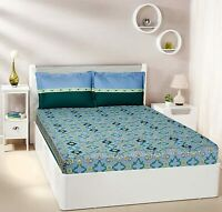 Imperial Trail 144 TC 100% Cotton Double Bedsheet with 2 Pillow Covers