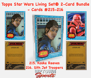 Topps Star Wars Living Set 2-Card Bundle Cards 215-216 Koska Reeves - SITH JET