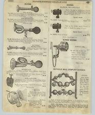 1918 Paper Ad Klaxon Motorcycle Bicycle Horns Autocrat Rugby Store Display Rack