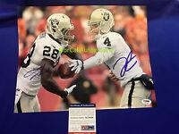 Derek Carr Latavius Murray Signed 11x14 Photo Oakland Raiders PSA/DNA COA