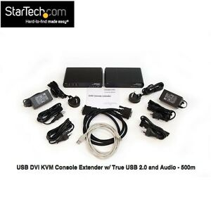 USB DVI KVM Console Extender w/ True USB 2.0 and Audio 500m (ext over CAT 5/6)