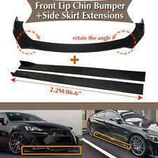 "Universal Car Front Bumper Lip Spoiler Chin Splitter +86.6"" Side Skirt Extension (Fits: Lotus Elise)"