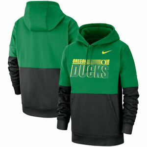 Nike Oregon Ducks Therma Pullover Hoodie CQ5557 377 mens 3XL apple green/black