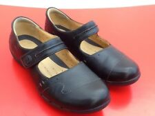 Clarks Artisan-Unstructured Ladies Shoes- -Mary Jane-Black Leather UK 4.5 D