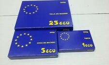 Juego 3 monedas plata 25-5-1 ecus. La marina española. 1996