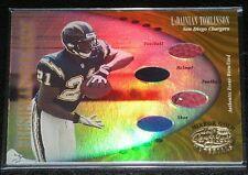 2001 Leaf Certified Mirror Gold LaDAINIAN TOMLINSON Shoe / Helmet / Ball RC /25