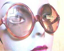 FRENCH MOD 1960s SPACE AGE WOMEN OVAL ROUND SUNGLASSES~ HANDCRAFTED LENSES ~ NEW