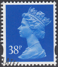GB Stamps 1999 Machin Definitive 38p Ultramarine, 2 Bands, S/G Y1707, VFUsed