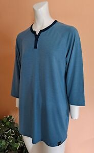 Under Armour Athlete Recovery Sleepwear 3/4 Sleeves Shirt Men's Size M Blue