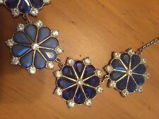 Gorgeous ⭐️ACCESSORIZE ⭐️Trendy Rhinestone Gemstone Navy Blue Necklace Choker