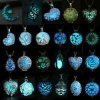 Magic Fairy Steampunk Glow In The Dark Statement Locket Pendant Necklace Jewelry