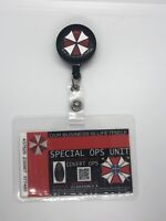 Resident Evil ID Badge- Umbrella Corp Special Ops Badge I'd Card With Badge Reel