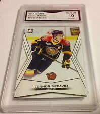 CONNOR MCDAVID Gem Mint 10 Rookie 2014 Draft SHORT PRINT Canada Leaf #01