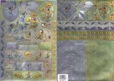 Dufex - 3D Decoupage Twin Pack - Die Cut – Lavender and Marigold - Fairies