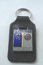 Peugeot Talbot leather and enamel keyring, key chain, Key fob