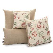 NUEA Moderna Estampado Rosa Floral chenilla hecho a mano Funda de cojín &