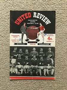 1961/2 MANCHESTER UNITED V CARDIFF CITY (WITH TOKEN)