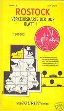 Verkehrskarte der DDR, Blatt 1, Rostock, 1977