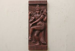 Vintage Shiva Statue Wall Hanging Panel Wooden Sculpture Home Decor Figurine