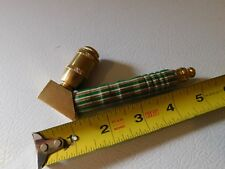 Smoking Pipe  brass with hand turned wood accents