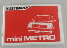 Servicio Manual Austin Mini Metro Von 1982