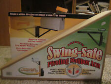 Swing Safe Pivoting flexible moveable spring loaded mailbox arm, pivots both way