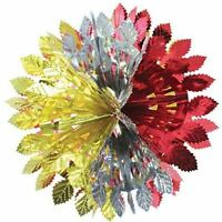 30cm Foil Snowball Hanging Decoration Festive Xmas Wall Tree Ceiling Party Leafs