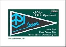 Royale Antenna Pennant Flag - PIAGGIO VESPA EMBLEM BLACK BLUE - FP1.0030