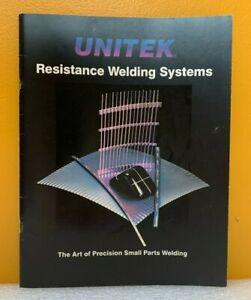 Unitek Resistance Welding Systems Catalog.