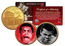 MUHAMMAD ALI Liston Fight/The Greatest Kentucky Quarters 2-Coin Set Gold Plated