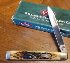 VTG 2001 Case XX 6185 SS Burnt Antique Bone Doctors Folding Pocket Knife MIB