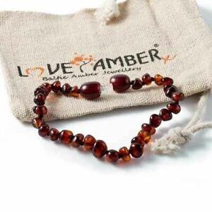 Genuine Polish Cherry Baltic Amber Child Anklet Bracelet Love Amber Blackforest