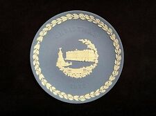 "Wedgewood Christmas 1979 Blue White Jasper 8"" Collector Plate Buckingham Palace"