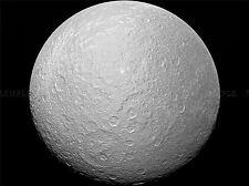 HUBBLE SPACE TELESCOPE PIA07763 RHEA FULL GLOBE POSTER PRINT ART 404PYA