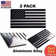 "(2 Pack) Aluminum Alloy American Flag Emblem Sticker 3D Decal 3.15""x1.75"" Sale"