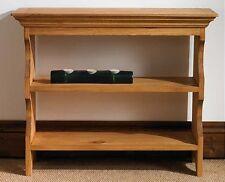 Mottisfont solid waxed pine furniture wall rack bookshelf