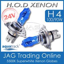 24V HOD XENON H4 100/90W 5500K SUPERWHITE HEADLIGHT TRUCK/BUS WHITE GLOBES/BULBS
