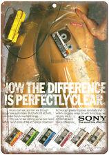 "Sony Cassette Tape Walkman 10"" x 7"" reproduction metal sign"