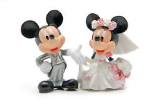 """Disney Mickey, Minnie Mouse Wedding Cake Topper (Set Of 2pc) 2- 1/4"""" Tall"""