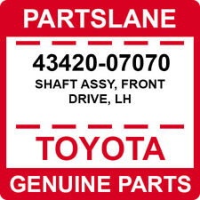 43420-07070 Toyota OEM Genuine SHAFT ASSY, FRONT DRIVE, LH